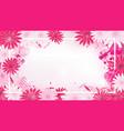 valentine floral invitation vector image