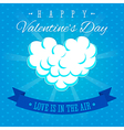 Valentines Day Love is in the air greeting card vector image vector image