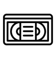 videotape line icon vhs tape vector image
