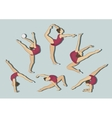 Woman stretching gymnastic exercises sport vector image vector image