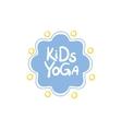 Yoga Kids Logo vector image vector image