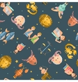 Zodiac icons seamless pattern vector image vector image