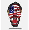 football fan from USA vector image