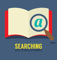 Magnifying Glass On Notebook vector image