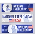 Web banners set for National freedom day USA vector image