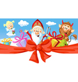 Saint Nicholas devil and angel - isolated o vector image
