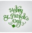 Typographic Saint Patricks Day Greeting Card vector image
