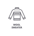 wool sweater line icon outline sign linear vector image