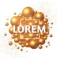 3d golden spheres realistic structure oil design vector image vector image