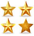 a set shiny golden christmas tree toys vector image