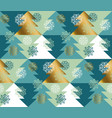 abstract concept christmas tree seamless pattern vector image vector image