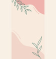 abstract floral story template for social vector image vector image
