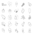 Amusement park icons set isometric 3d style vector image vector image