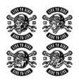 animal motorcycle riders vintage labels vector image vector image