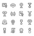 awards and prizes thin line icons set vector image