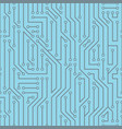 blue abstract circuit board endless pattern vector image