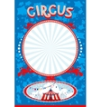 Blue circus poster vector image
