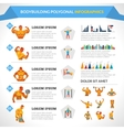 Bodybuilding Polygonal Infographics vector image