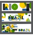 Brazil and Rio banners in abstract geometric style vector image vector image