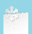 christmas holiday design with paper cut style vector image vector image