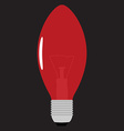 Christmas light bulb vector image vector image