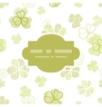 clover textile textured line art frame seamless vector image
