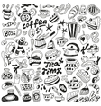 coffee and sweets - doodles collection vector image vector image