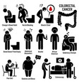 colon and rectal colorectal cancer symptoms vector image vector image