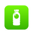 cosmetic bottle icon green vector image vector image