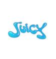 creative letter juice symbol design logo vector image vector image