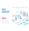 Data analysis and visualization isometric landing