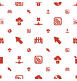 data icons pattern seamless white background vector image vector image
