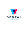 dental logo icon vector image vector image