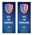 Election banner set with USA flag vector image vector image