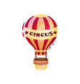 flat icon of big air balloon with basket vector image