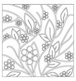Floral and decorative background for coloring vector image vector image