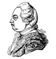 frederic lord north earl of guilford vintage vector image vector image