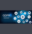 gdpr concept idea data protection vector image vector image