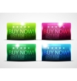 Glossy buy now buttons vector image