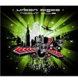 grunge urban city background vector image vector image