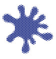 halftone dot blot icon vector image