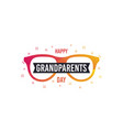 happy grandparents day banner greeting vector image