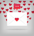 happy valentine s day envelope vector image vector image