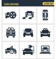 Icons set premium quality of cars driving vector image vector image