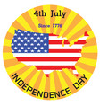 independence day label vector image vector image