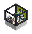 isometric confectionery shop concept vector image vector image