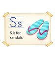 Letter S vector image vector image