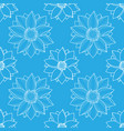 lotus blue seamless pattern vector image vector image