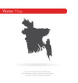 map bangladesh isolated vector image vector image