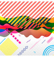 modern abstract art collage in bright colors vector image